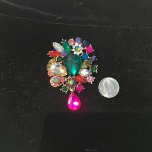 Statement Multicolored Brooch
